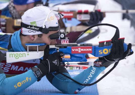 Martin Fourcade, le 3 janvier à Oberhof, en Allemagne.