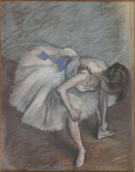 « Danseuse assise », d'Edgar Degas (1834-1917).