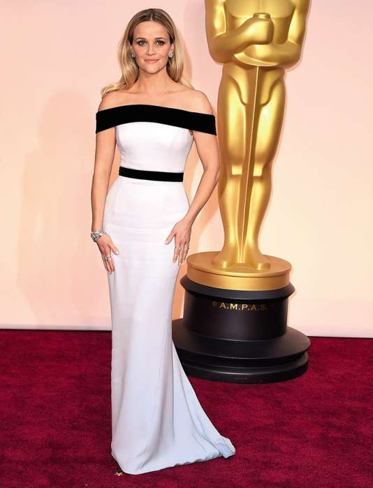 Reese Witherspoon aux Oscars, en 2015.