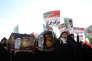 Manifestations pro-gouvernement àMashhad (Iran), le 4 janvier.