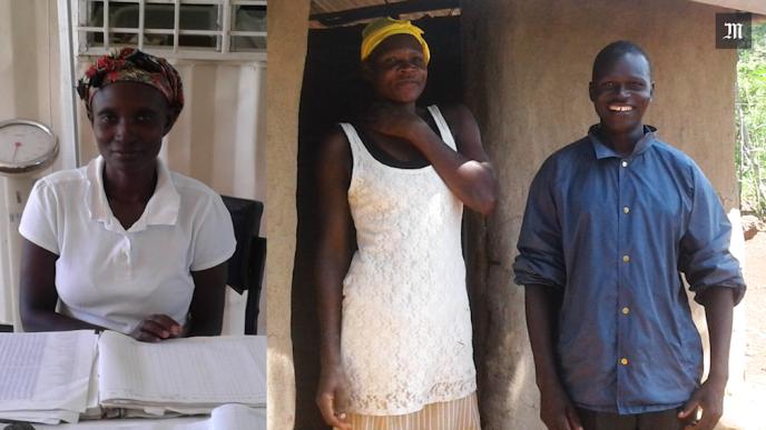 Yacinta, Nora et Erico vivent dans un village de l'ouest kényan. Ilreçoivent tous les mois depuis près d'un an l'équivalent de 20 euros de l'ONG GiveDirectly.