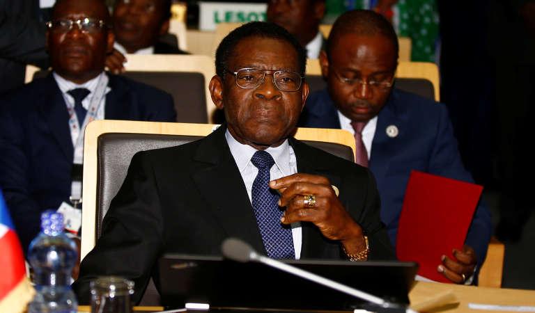 Le président équato-guinéen Teodoro Obiang Nguema, au pouvoir depuis1979, lors du28e sommet de l'Union africaine, à Addis-Abeba, le 30 janvier2017.