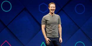 Le fondateur et patron de Facebook, Mark Zuckerberg, lors d'une conférence àSan José (Californie), en avril 2017.