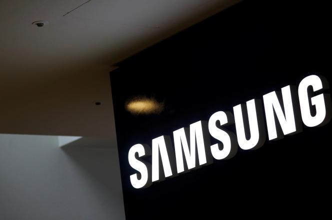 Le logo du constructeur sud-coréen Samsung, à Séoul, le 4 juillet 2017.