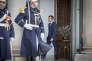 Emmanuel Macron, président de la République, participe à un séminaire gouvernemental, au palais de l'Elysée, mercredi 3 janvier.