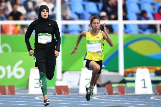 L'athlète saoudienne Kariman Abuljadayel lors des Jeux olympiques de Rio en 2016.