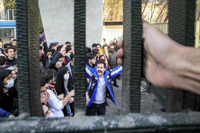 A l'université de Téhéran, le 30 décembre 2017.