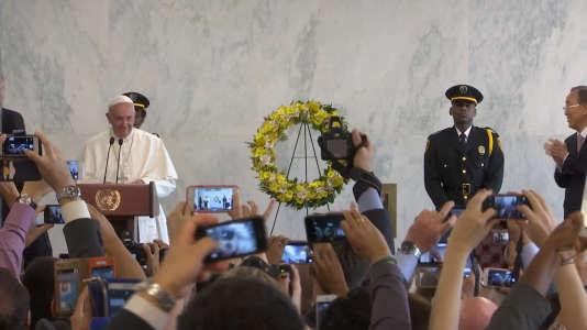 Le Pape François au siège des Nations unies, à New York, en 2015.
