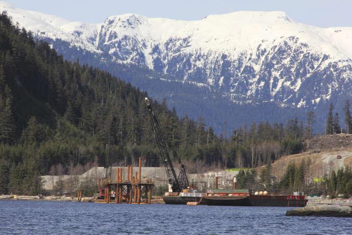 Le projet d'infrastructures d'exportation degaz naturel liquéfié Kitimat LNG près de Kitimat, en Colombie-Britannique au Canada, le 13 avril 2014.