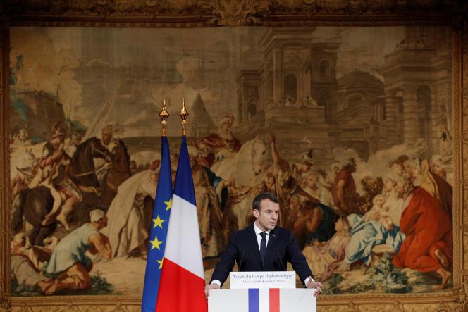 Emmanuel Macron, à l'Elysée, le 4 janvier.
