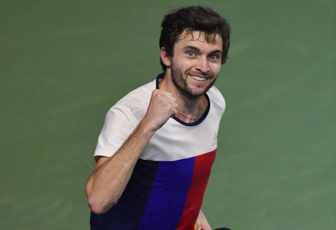Gilles Simon, le 5 janvier, lors du tournoi de Pune (Inde).