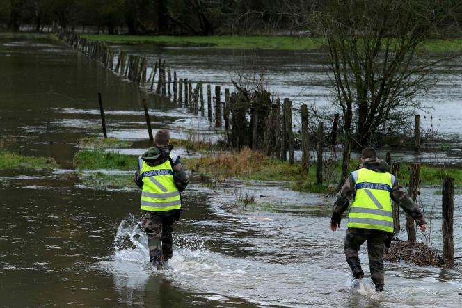 Vendredi 5janvier,près deRouvres-sur-Aube, les gendarmes recherchent un homme de 70 ans qui a disparu la veille.