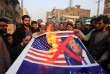 Manifestation contre Donald Trump, à Peshawar (Pakistan), le 5 janvier.