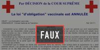 La fausse« décision» sur l'obligation vaccinale de la prétendue« cour suprême».