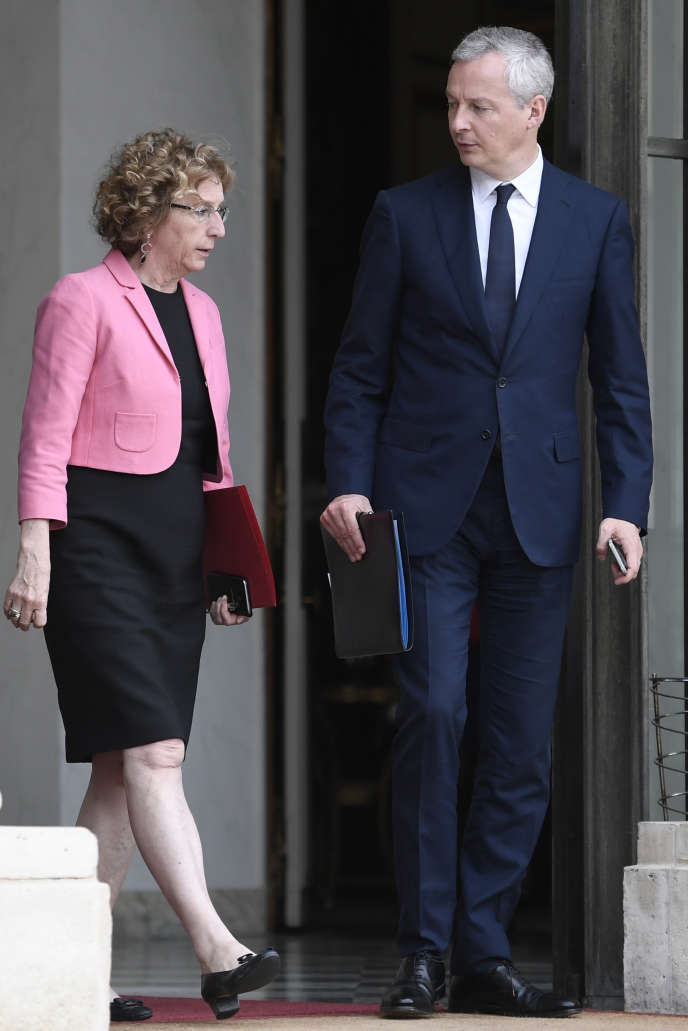 Les ministres du travail, Muriel Penicaud, et de l'économie,Bruno Le Maire, à Paris, en août 2017.
