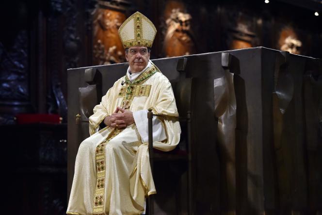 Michel Aupetit, le 6 janvier, à Notre-Dame-de-Paris.