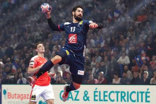 Nikola Karabatic face au Danemark, le 7 janvier à Paris.