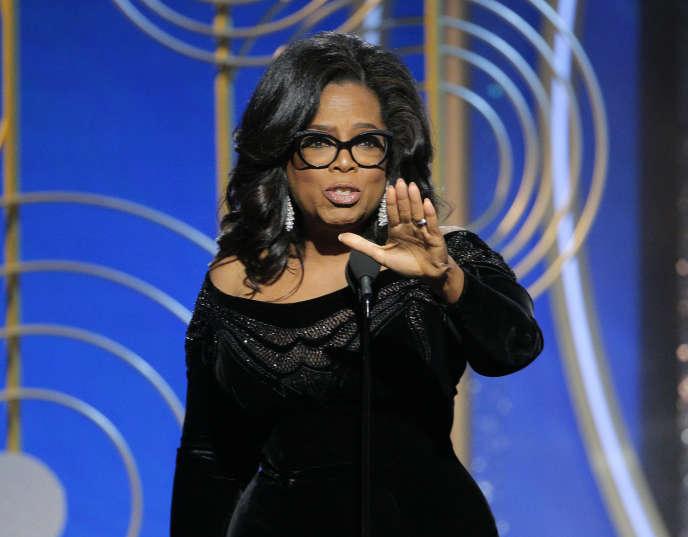 Oprah Winfrey au Golden Globes, le 7 janvier.