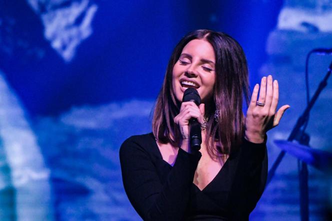 Lana Del Rey sur scène à New York, le 23 octobre 2017.