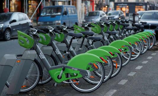 Les nouveaux Vélib', le 8janvier à Paris.