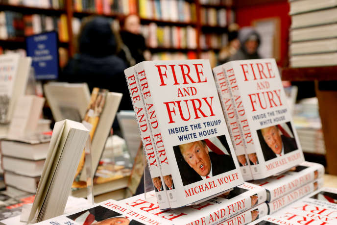 Des exemplaires du livre « Fire and Fury: Inside the Trump White House » à New York, le 5 janvier.