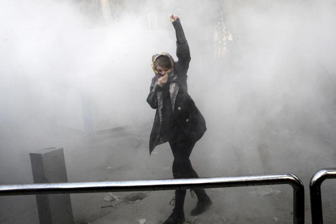 Lors des manifestations à Téhéran, le 30 décembre.