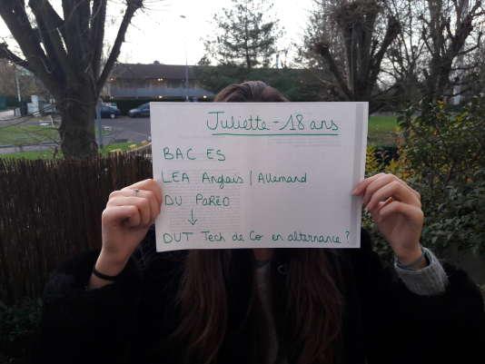 Juliette fait partie des étudiants qui témoignent dans le cadre de notre série« Voix d'orientation», en partenariat avec La ZEP.