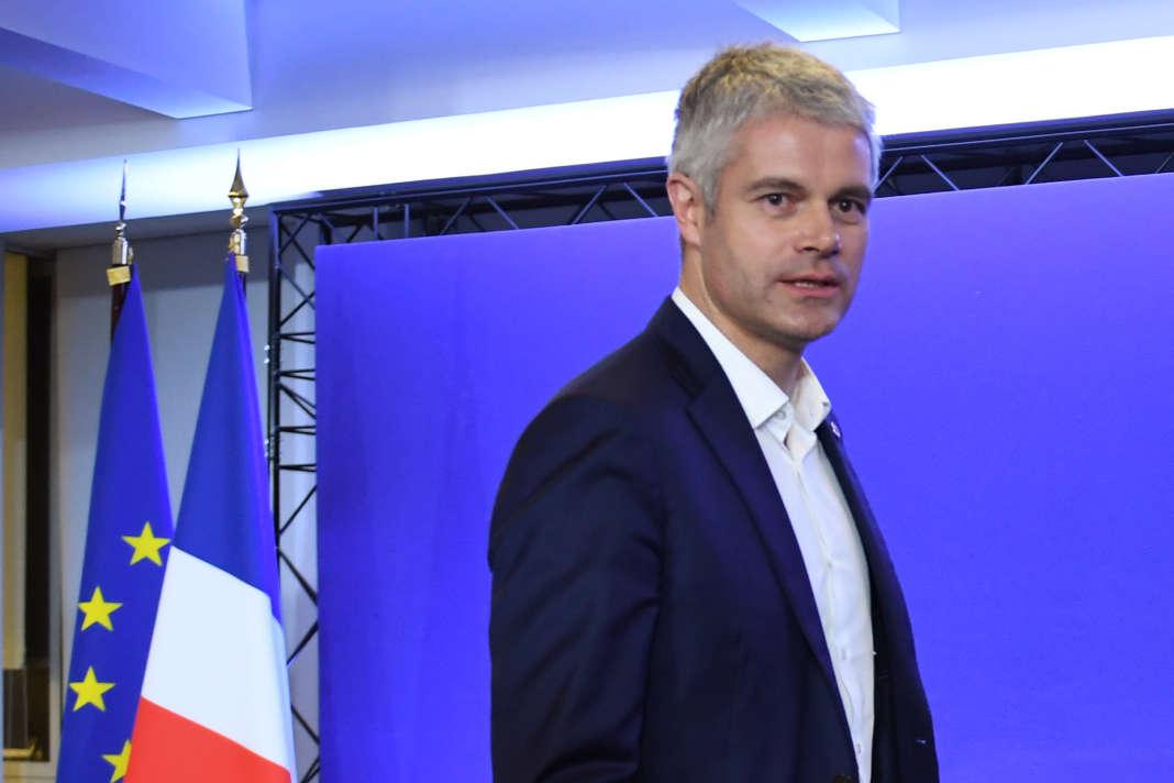 Laurent Wauquiez, lors d'une conférence de presse au siège du parti Les Républicains, à Paris, le 13 décembre 2017.