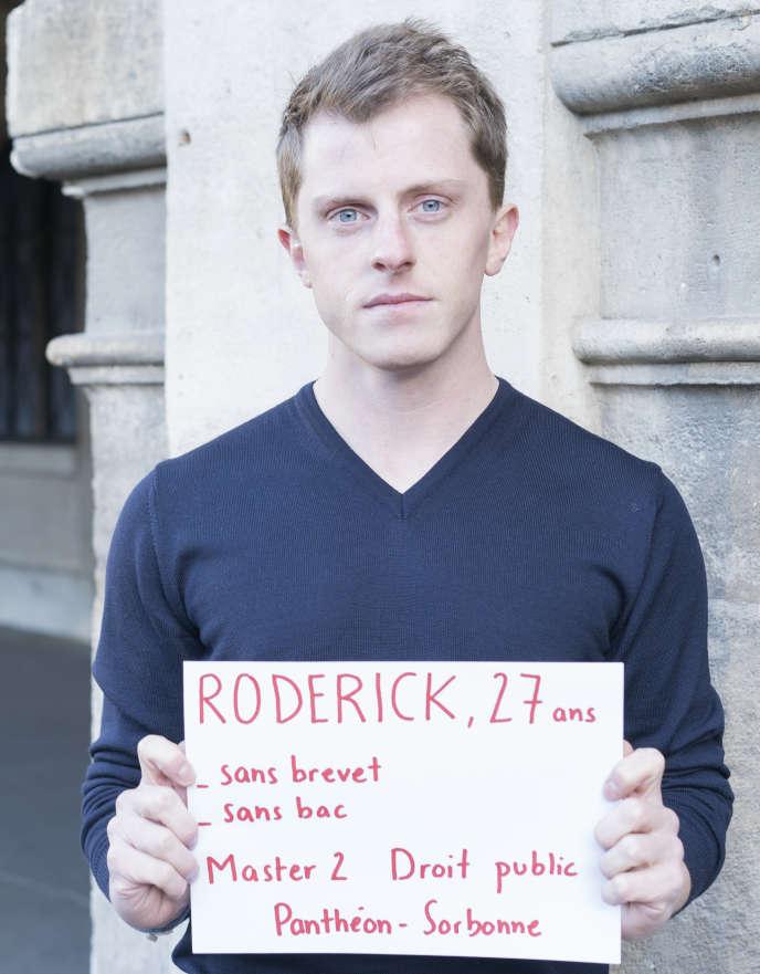 Roderick, l'un des témoins de notre série« Voix d'orientation».