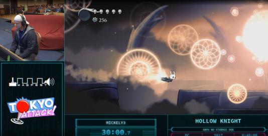 Le joueurMickely3, terminant le jeu«Hollow Knight» en un peu plus de 38 minutes.