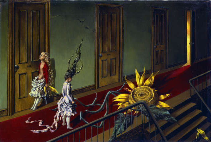 « Petite musique de nuit » (1943), huile sur toile de Dorothea Tanning (1910-2012).