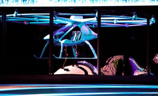 Intel a présenté le Volocopter, un drone-taxi.