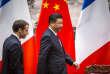 Emmanuel Macron, président de la république, et Xi Jinping, président de la République populaire de Chine participent à une déclaration à la presse au Grand Palais du peuple à Pékin, le 9 janvier.