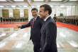 Xi Jinping, président de la République populaire de Chine accueille Emmanuel Macron au Grand Palais du peuple, le 9janvier.