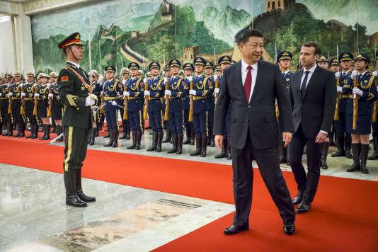Emmanuel Macron et Xi Jinping à Pékin, le 9 janvier.