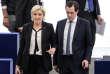Marine Le Pen et Nicolas Bay, vice-président du FN, au Parlement européen, à Strasbourg, en avril 2017.