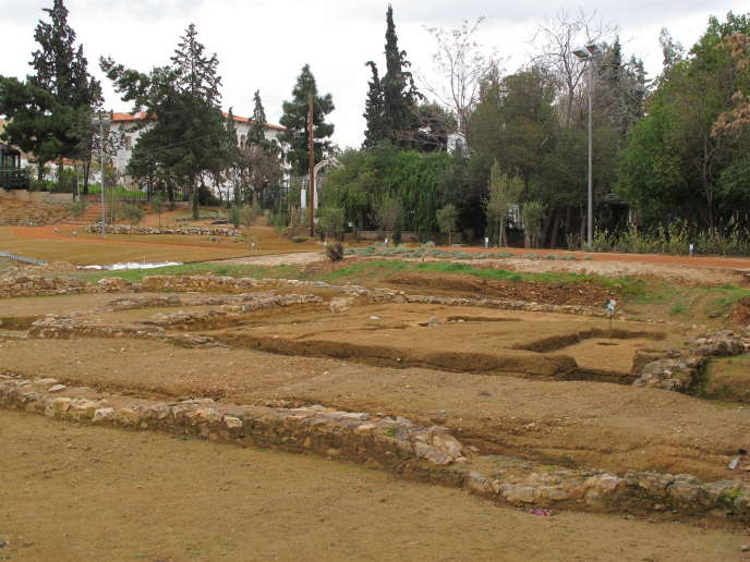 Le site du Lycée d'Aristote, à Athènes, aujourd'hui.