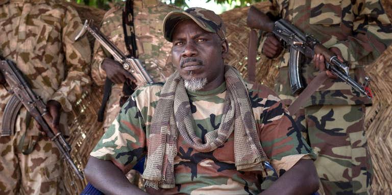 Le «général» autoproclamé Ahamat Bahar du Mouvement national pour la libération de la Centrafrique (MNLC), le 27 décembre 2017, à Betoko, dans le nord-ouest de la République centrafricaine.