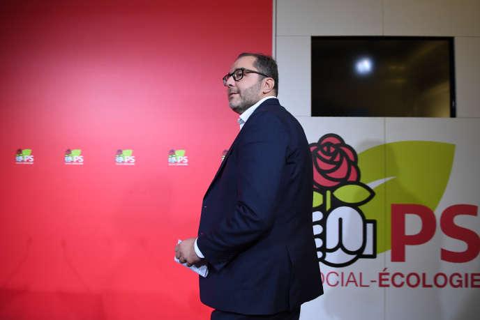 Rachid Temal,coordinateur du parti et numéro un par intérim du PS, à Paris, le 30 septembre.