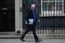 David Lidington quitte le 10 Downing Street, à Londres, le 8 janvier, promu « Minister for the Cabinet Office » dans le nouveau gouvernement de Theresa May.