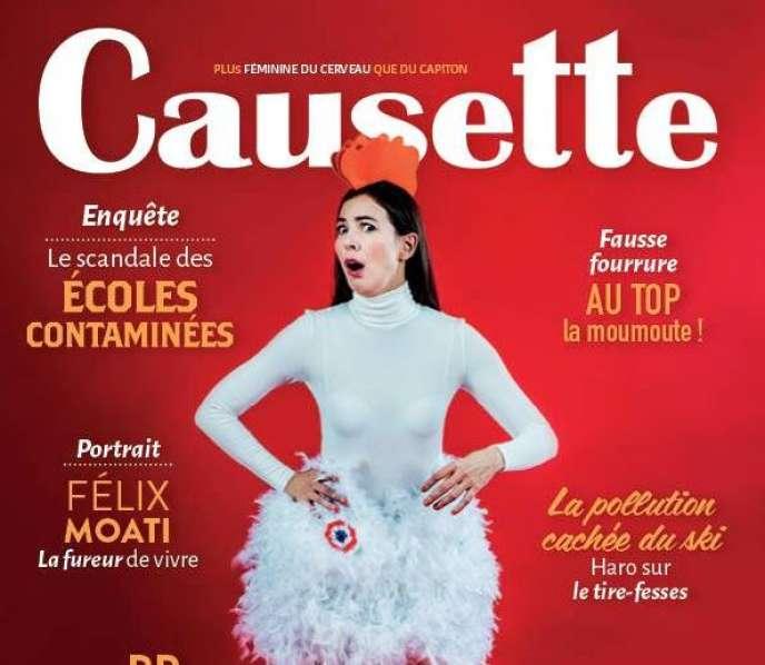 La couverture du numéro de janvier de« Causette».
