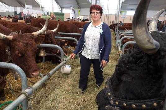 Christiane Lambert, présidente de la Fédération nationale des syndicats d'exploitants agricoles au Sommet de l'élevage, à Cournon-d'Auvergne (Puy-de-Dôme), le 4 octobre 2017.