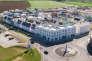 Nansledan en octobre 2017. Cette extension de la ville de Newquay, en Cornouailles, dans le sud-est de l'Angleterre, a été réalisée selon les préceptes du prince Charles.