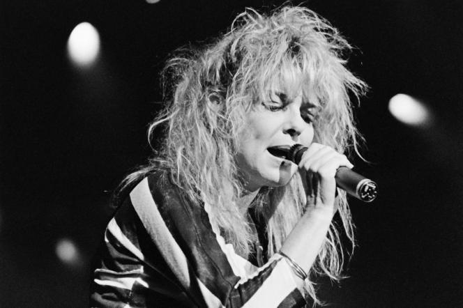 France Gall en concert au Zénith, à Paris, le 18 novembre 1987.