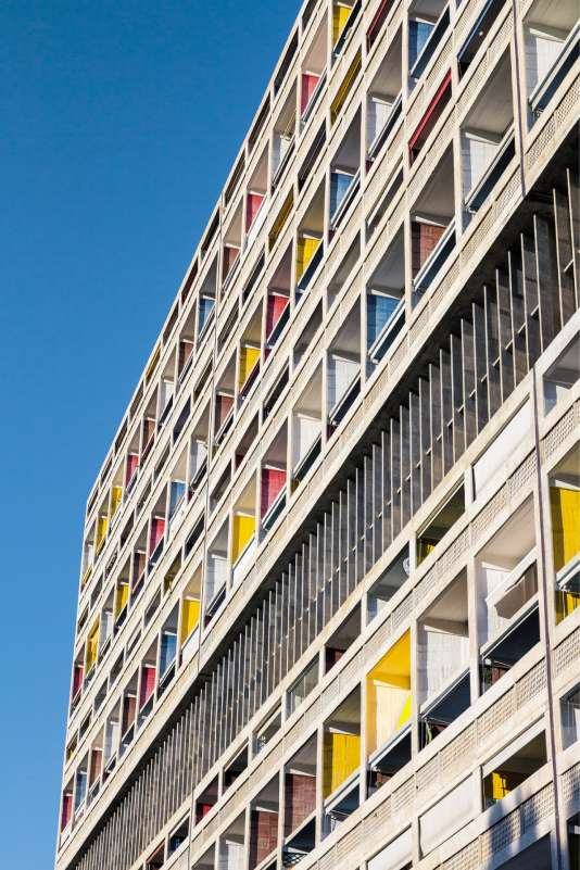 Les cellules d'habitation de la Cité radieuse de Le Corbusier, à Marseille.