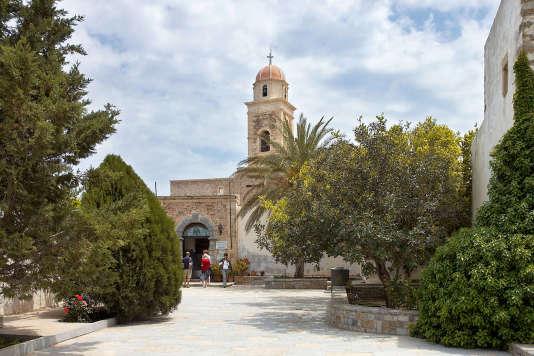 L'entrée du monastère de Moni Toplou, voisin de Sitia.