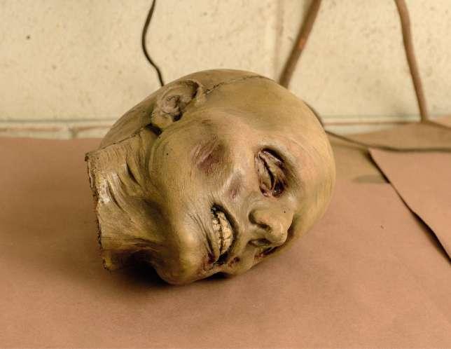 Une tête fabriquée chez Dapper Cadaver à Burbank, en Californie.