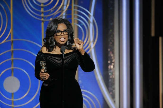 Oprah Winfrey lors de la cérémonie des Golden Globes, au cours de laquelle elle a reçu le prix Cecil B. DeMille, le 7 janvier, à Beverly Hills. Paul Drinkwater/AP