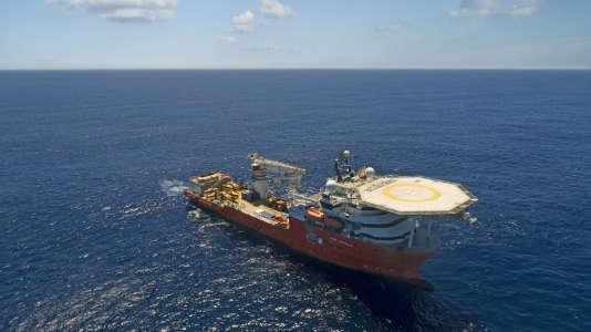 Photo non datée du navire «Seabed Constructor», dépêché dans l'océan Indien par l'entreprise américaine Ocean Infinity pour rechercher l'épave du vol MH370.