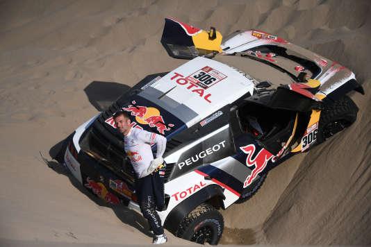 Quelque part entre San Juan de Marcona et Arequipa, le 10 janvier. Sébastien Loeb abandonne le Dakar, son copilote Daniel Elena blessé.